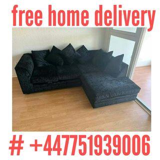 crush velvet corner sofa