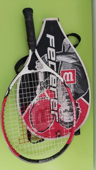 Dos raquetas juveniles de tenis casi sin uso