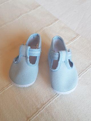 Zapatitos lona bebé a estrenar 3-6 meses
