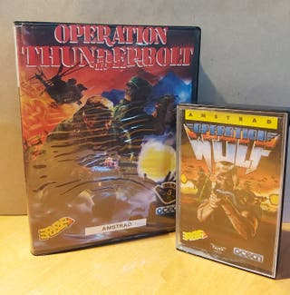 Operation Wolf + Thunderbolt Cinta Amstrad CPC 464