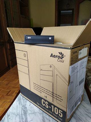 Caja torre Pc sobremesa con reproductor dvd