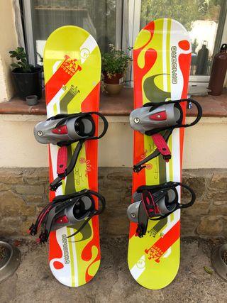 2 Tablas Snowboard Júnior Quechua Con Funda