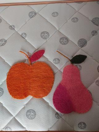 Lote adorno frutas decorativas como cuadros