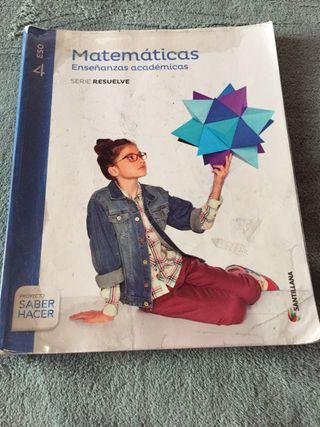 Libro matematicas 4 ESO