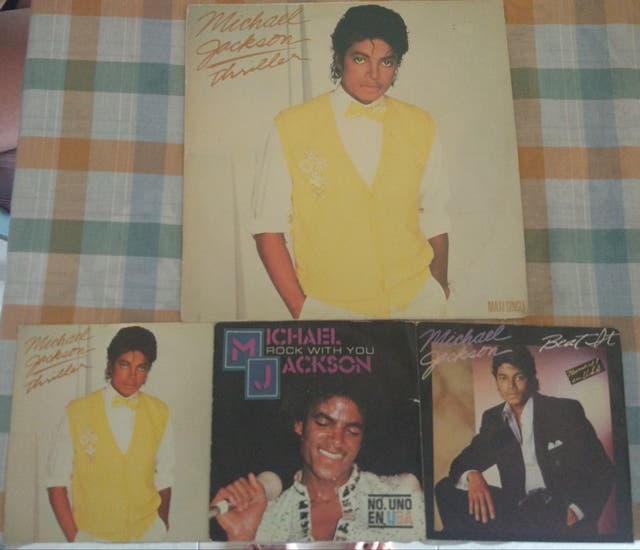 Discos vinilo LP Michael Jackson Beat It Thriller