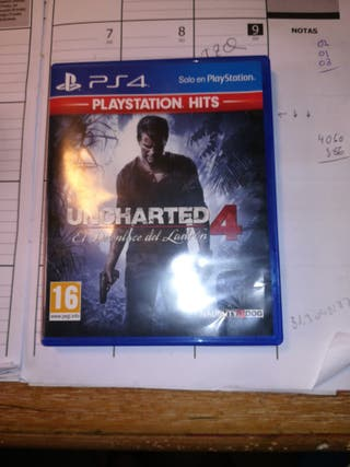 "Uncharted 4 ""el desenlace del ladrón"" PS4"