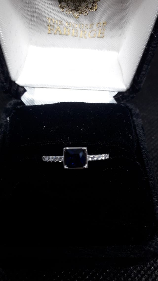 Square Created Sapphire Emerald Rings 925 S.S