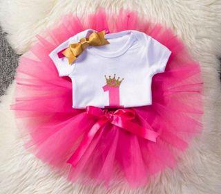 conjunto niña bebé nuevo cumpleaños princesa