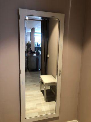 Puerta antigua con espejo 64 x 160