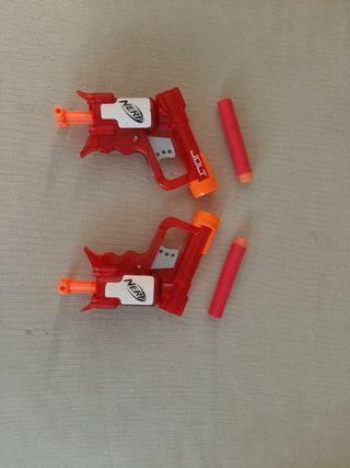 Pistolas Nerf (Rojo)
