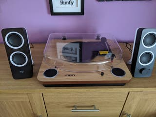 Ion Max Audio Record Player/Logitech Speakers
