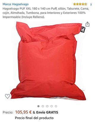 Puf 180x140.cm. Como sofá o colchón...