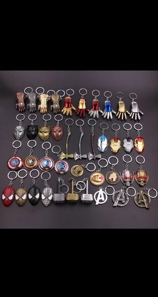 Llaveros de los vengadores de Marvel