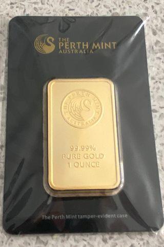 Perth Mint 1oz gold bullion bar