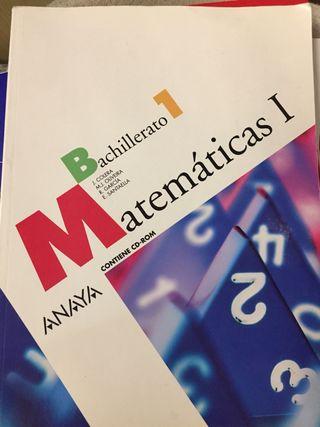 Matemáticas I . Libro bachillerato