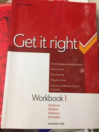 Get it right. Libro bachillerato