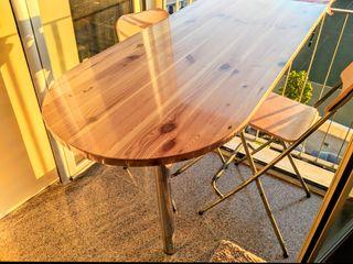 Barra madera pata aluminio regulable cocina balcón