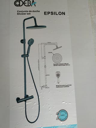 Conjunto de ducha negro NUEVO grifo termostatico