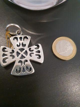 Colgante de plata peruana 950 artesanal