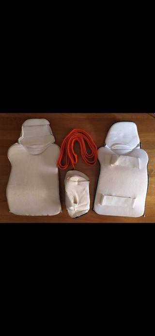 Kit protecciones manos y piernas (adolescente)