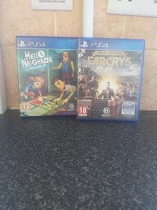 ps4 hello neighbor hide and seek farcry5 gold edi