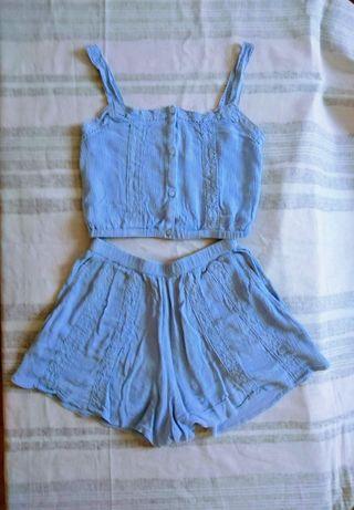 conjunto azul H&m