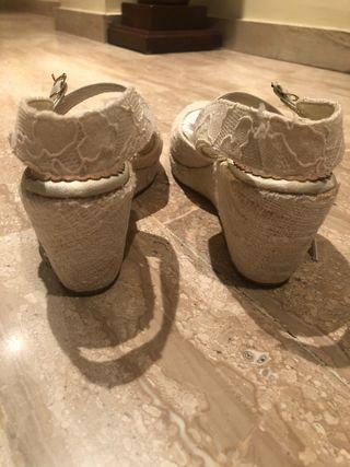 Zapatillas de esparto novia