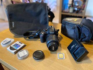 Camera Nikon D3100 + Lens 18-55mm + accessories