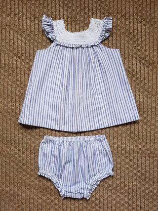 Vestido con ranita bebé 12-18 meses Gocco