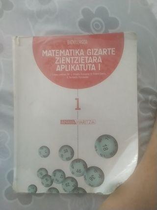 MATEMATIKA GIZARTE ZIENTZIRTARA APRIKATUA 1 BATXI
