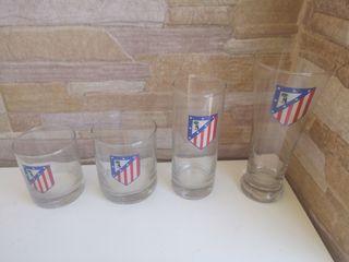 24 vasos Atlético de Madrid.. 6 cada vaso