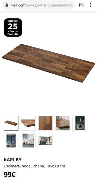 Encimera ikea madera