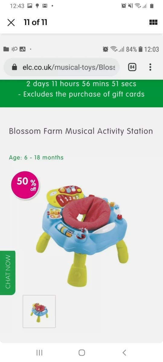 ELC Blossom Farm musical activity station sit