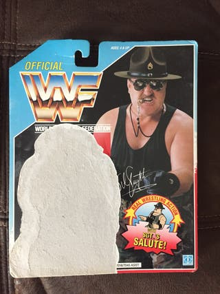 WWF Sgt Slaughter backing card