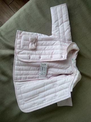 Abrigo Benetton Baby Rosa 3 m