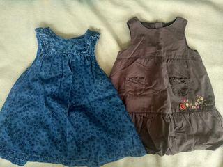 2 vestidos 6 meses