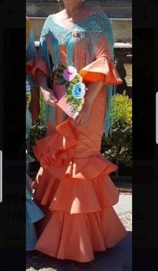 vestido flamenca coral