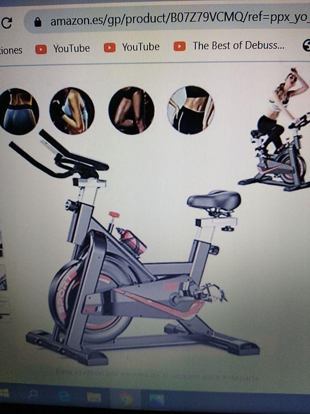 bicicleta estática spinning.