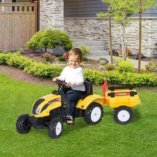 Tractor Pedal con Remolque para Niños 3-6 Años Jug