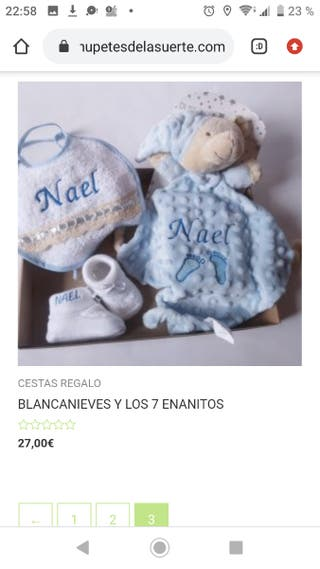 canastilla Blancanieves 100%personalizada