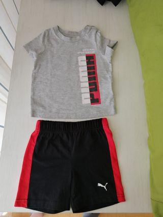 Conjunto pantalón, camiseta y visera T 12-24 m