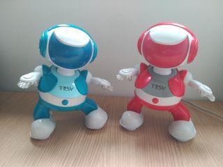 PAREJA DE ROBOTS PARTYBOT TOSY ROJO Y AZUL