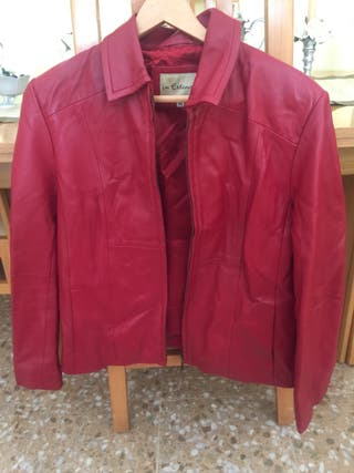 Chaqueta cuero original roja