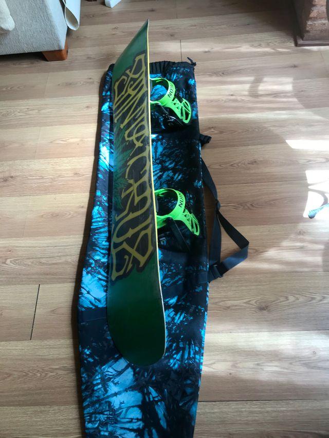 Tabla snowboard SANTA CRUZ+fijaciones UNION+funda