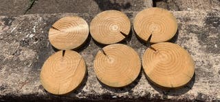 6 Rustic Wooden Coasters