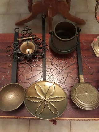 utensilios cocina bronce antiguos