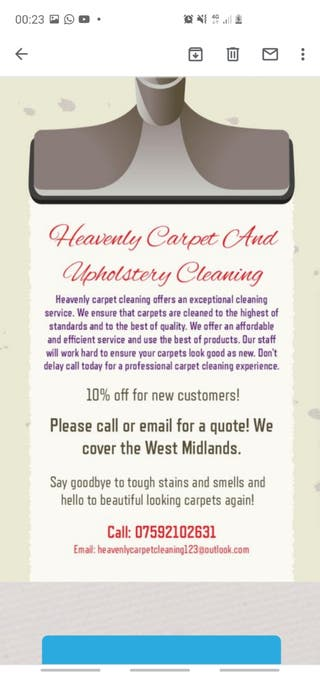Heavenly Carpet And Upholstery Cleaning