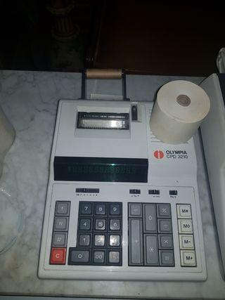 3 calculadoras olympia con rollos originales