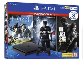 500GB ps4 console with 3 games for sale