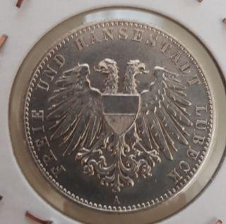 Moneda Plata 2 Marcos Estados Alemanes 1901